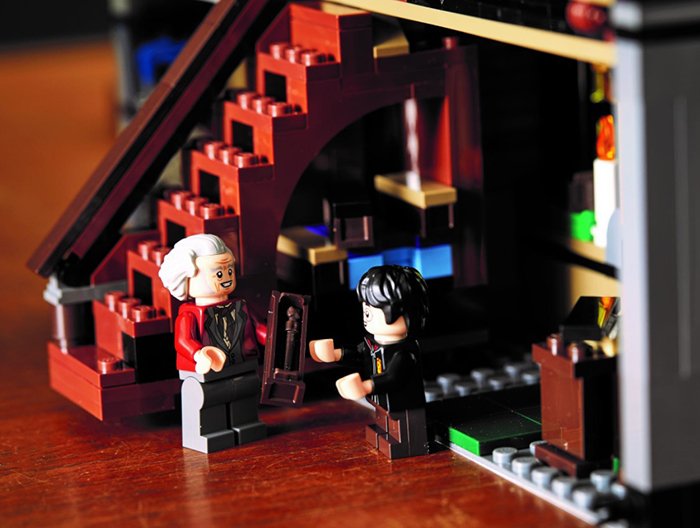 ollivander and harry potter minifigures