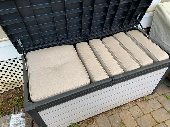 perfect things storage box cushions