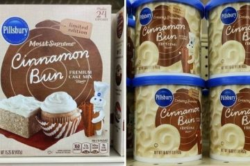 pillsbury's cinnamon bun cake mix and frosting