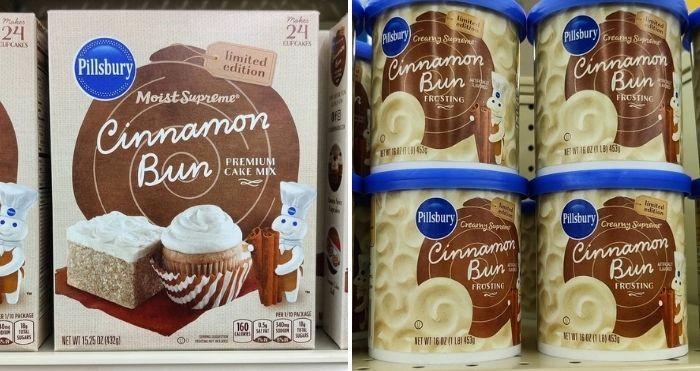 pillsbury's cinnamon bun cake mix and frosting