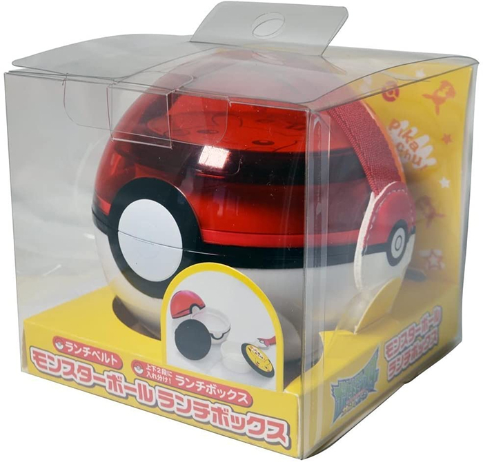 pokeball lunch box transparent top lid