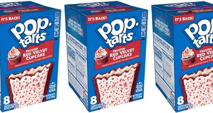pop-tarts frosted red velvet cupcake