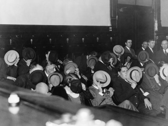 rare photos al capone trial