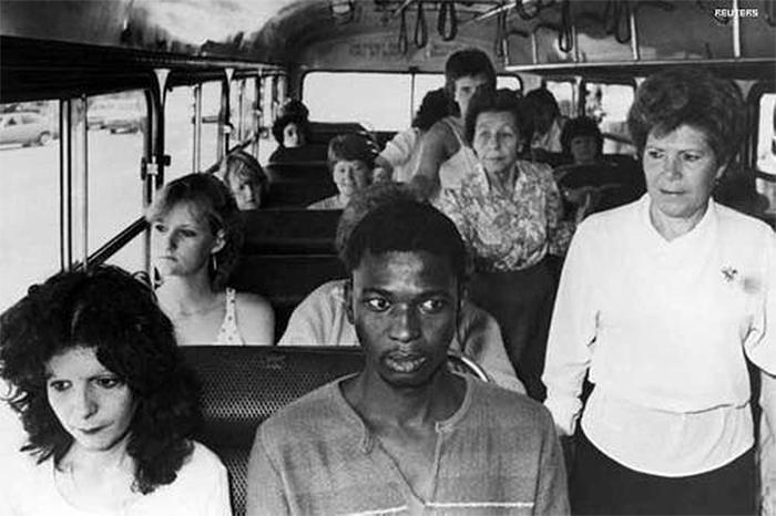rare photos black man rides bus for white passengers