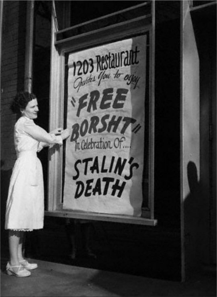 rare photos free beer on stalin death
