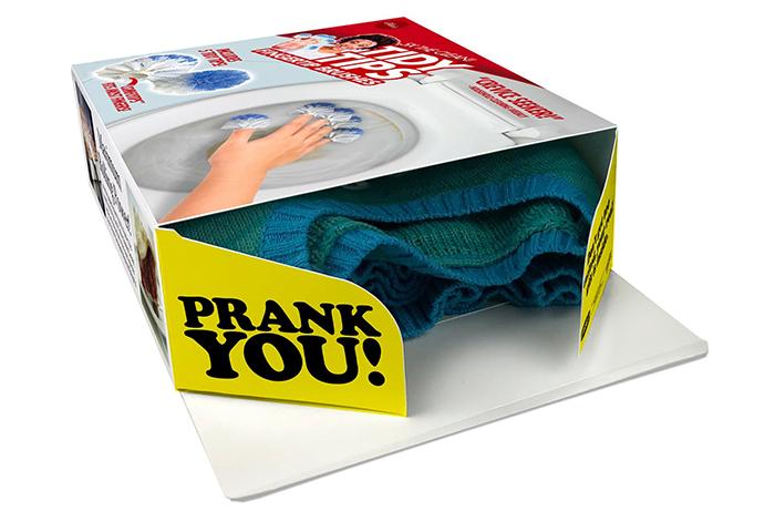 real gift inside tidy tips fingertip brushes prank gift box