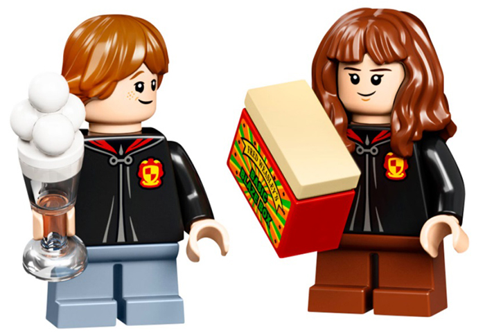 ron and hermione minifigures