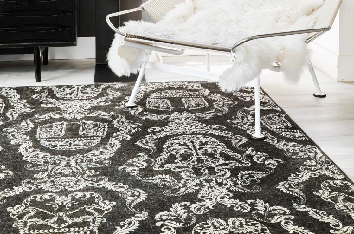 ruggable star wars themed rug dark side damask charcoal