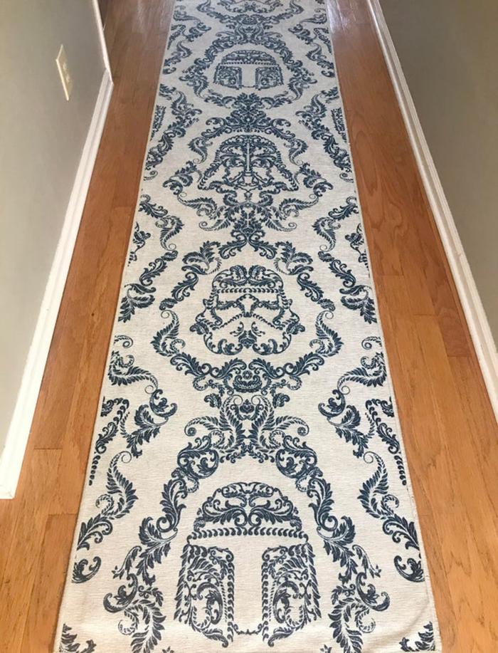ruggable star wars themed rug dark side damask delf blue
