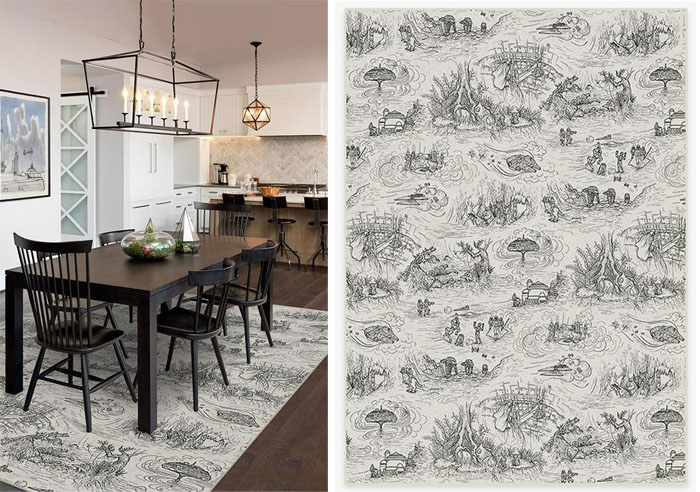 ruggable star wars themed rug toile white