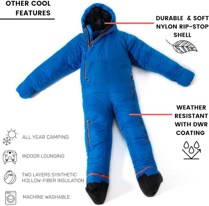 sleeping bag onesie specifications