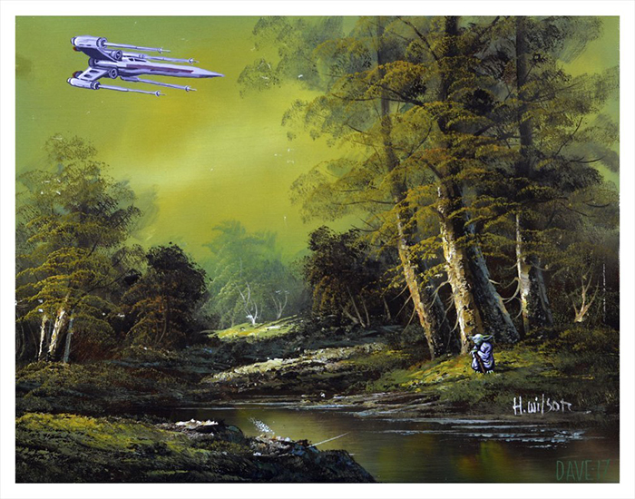 star wars yoda painting by arrowhead vintage and goods