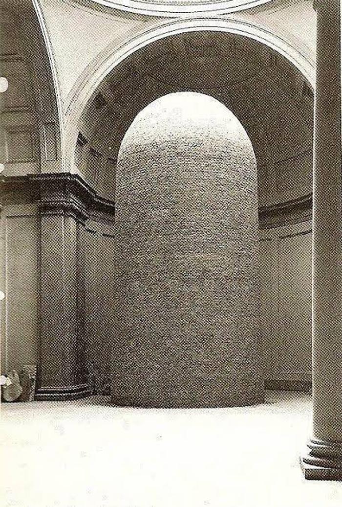 staue of david encased in bricks