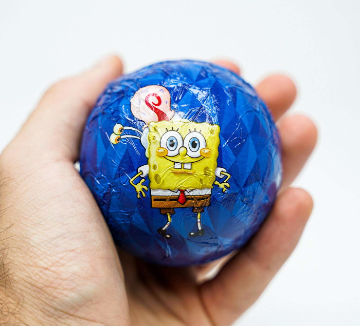 the SpongeBob SquarePants Hot Chocolate Bomb features the character and his pet snail in the foil