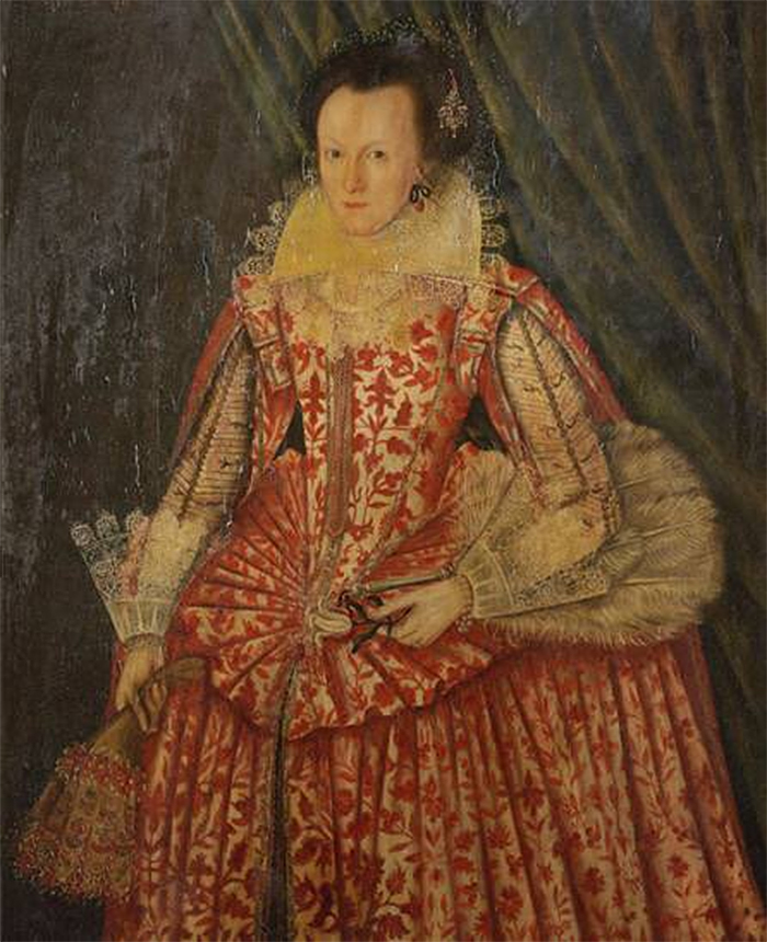 the lady in red 1618 painting