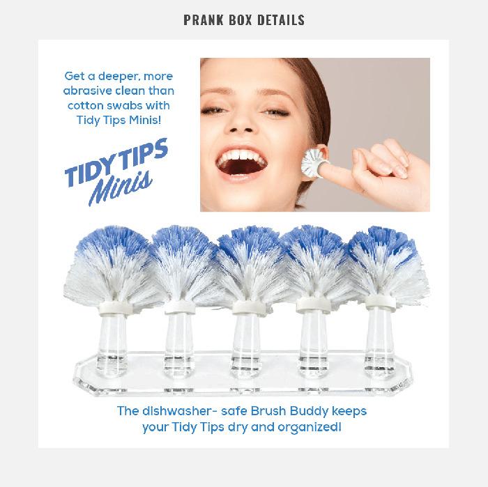 tidy tips fingertip brushes prank gift box product variant