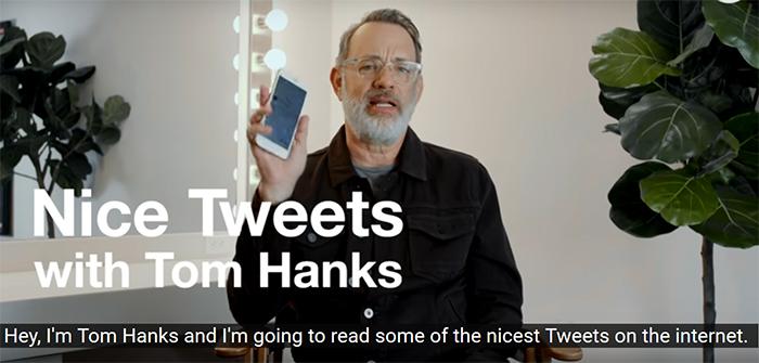 tom hanks reads nice tweets