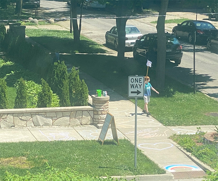 wholesome things lone kid protest