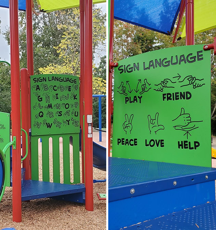 wholesome things sign language playground