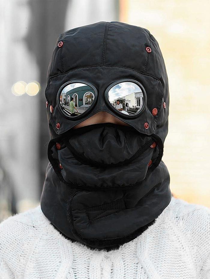 winter trapper hat black