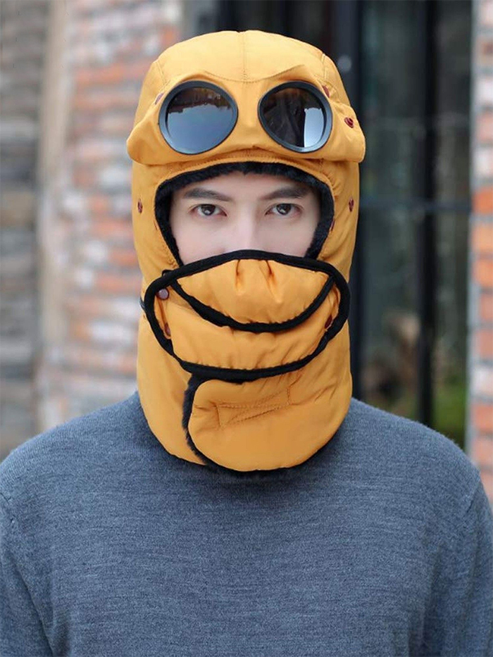 winter trapper hat yellow