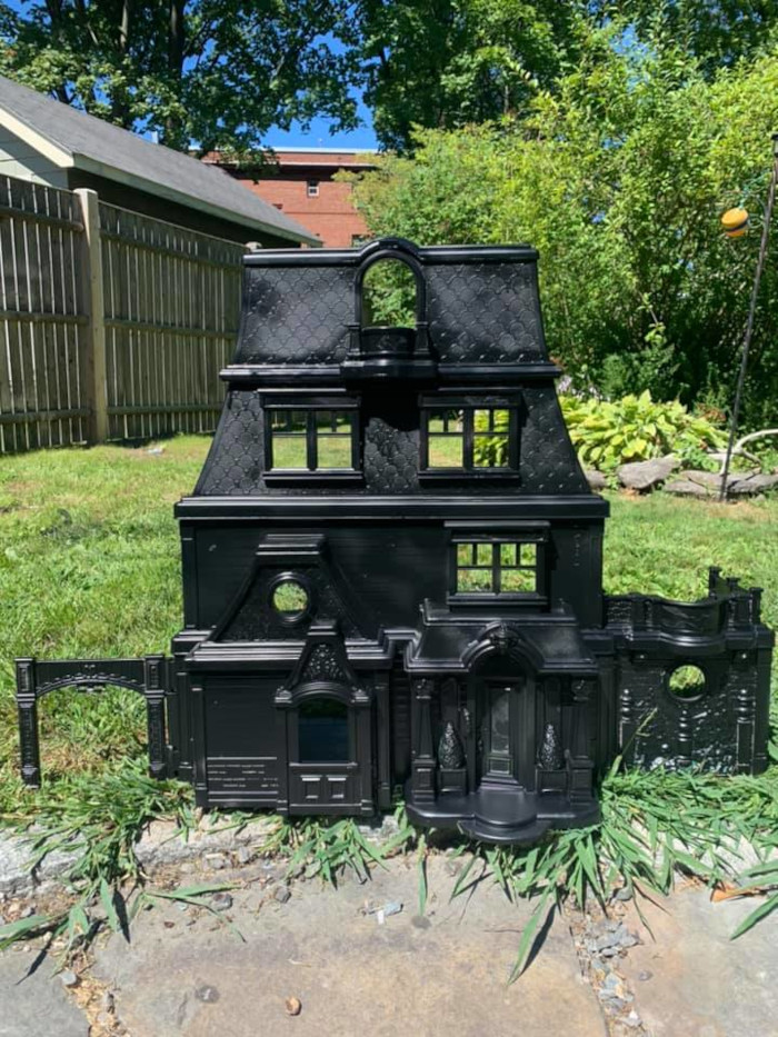1st dollhouse finished in matte black
