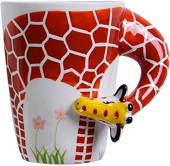 3d giraffe animal coffee mugs