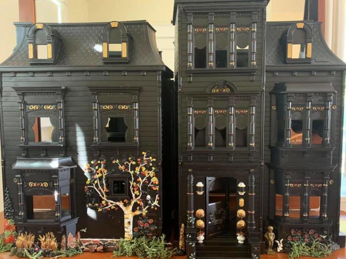 3rd matte black dollhouse