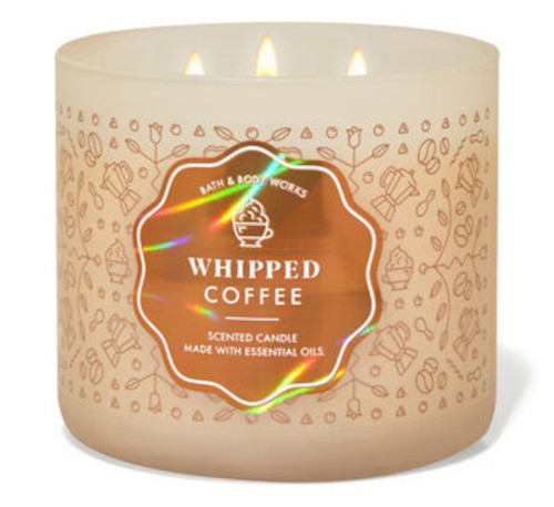 Bath and Body Works new Whipped Coffee candle scent