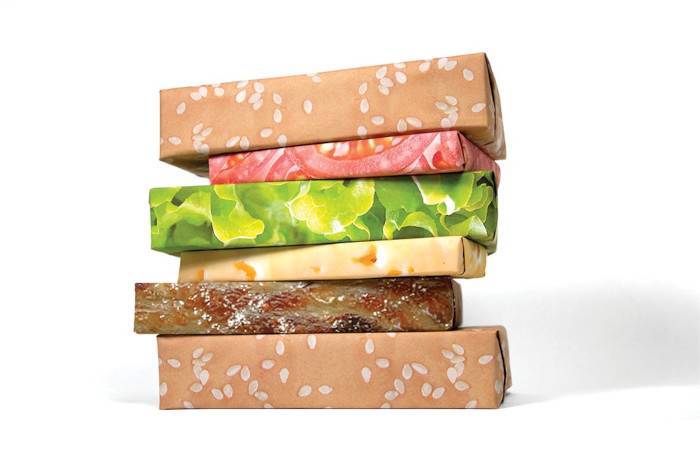 Gift Couture Cheeseburger Wrapping Paper set