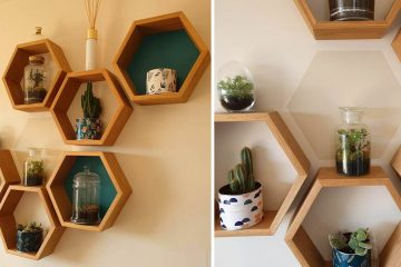 Wooden Honeycomb shelves