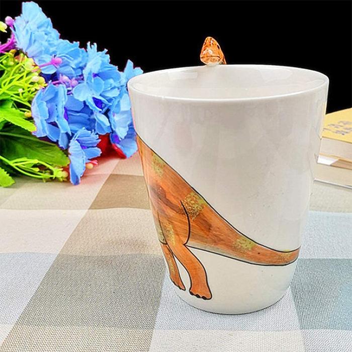 animal coffee mugs dinosaur design