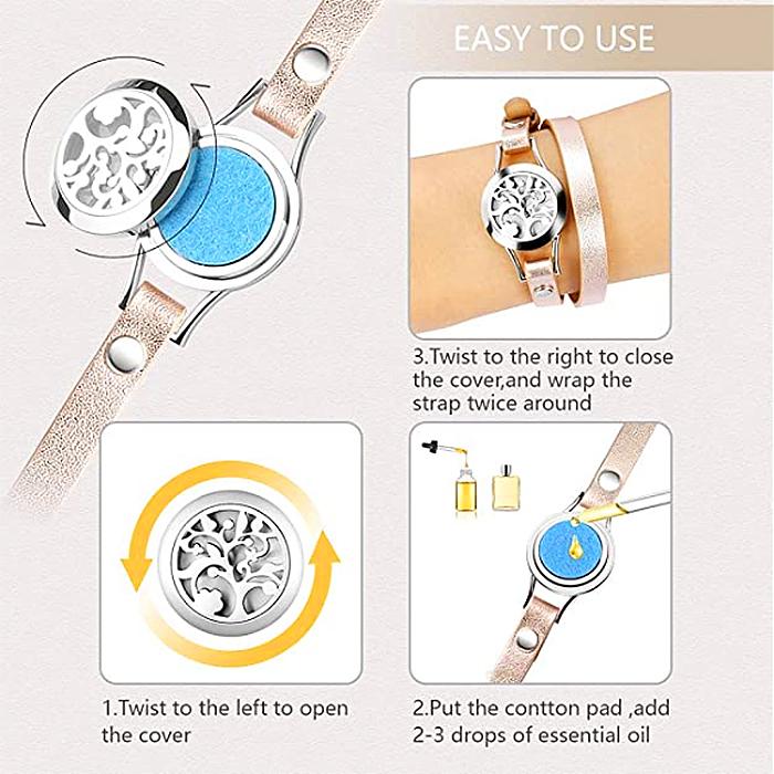 aromatherapy bracelet how to use