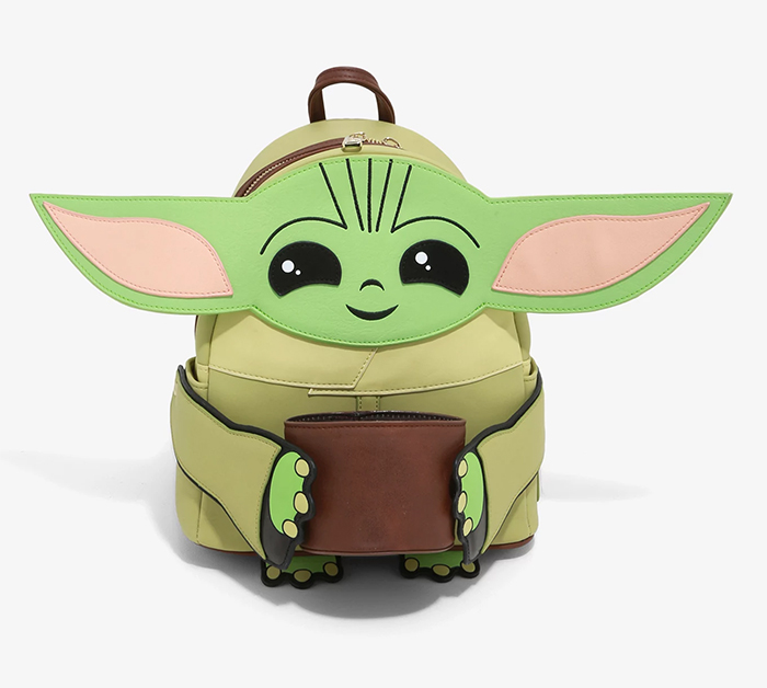baby yoda mini backpack with cup