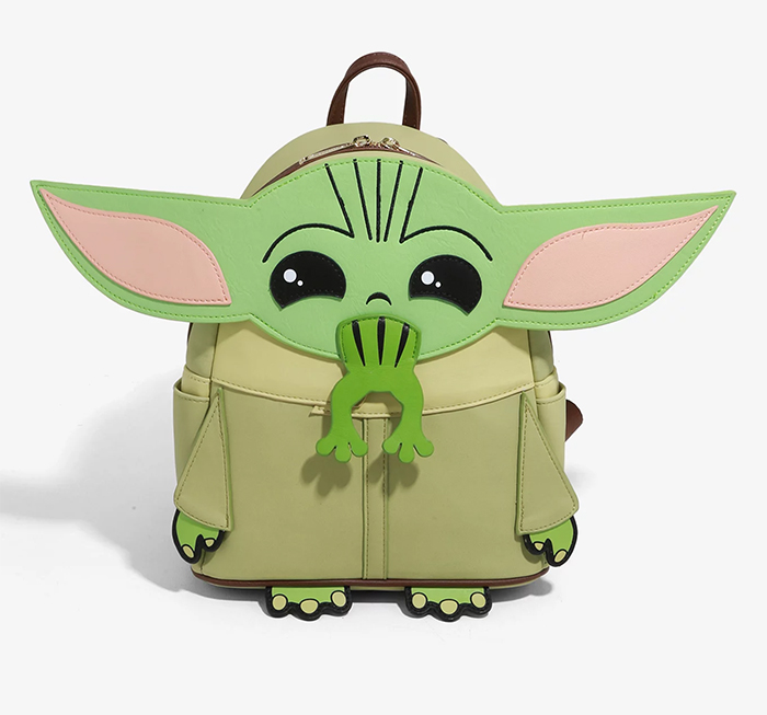 baby yoda mini backpack with frog