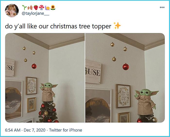 baby yoda tree topper
