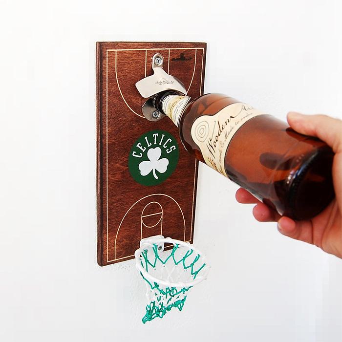 basketball bottle opener boston celtics