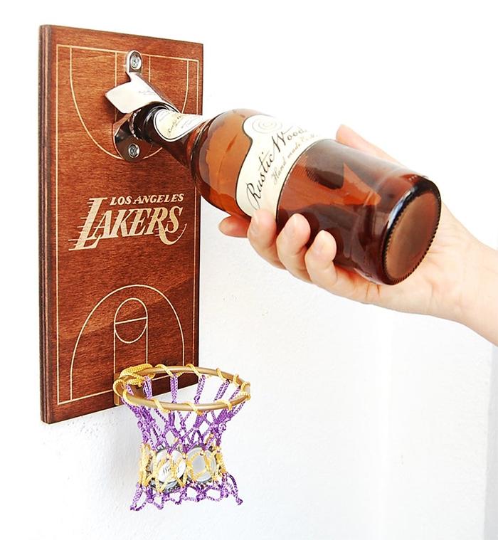 basketball bottle opener la lakers