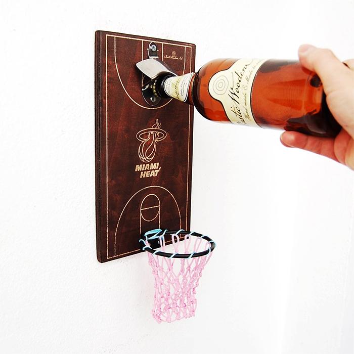 basketball bottle opener miami heat