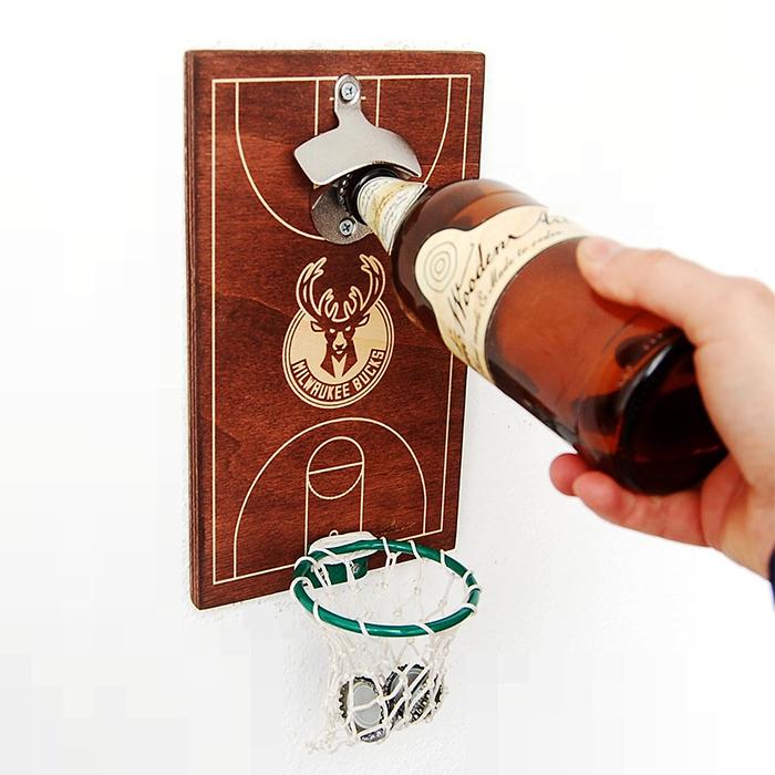 basketball bottle opener milwaukee bucks