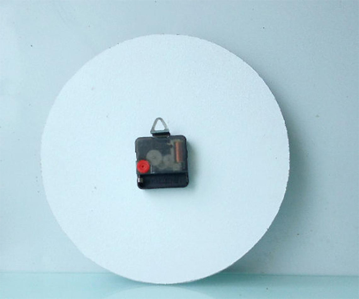 battery-operated clock back