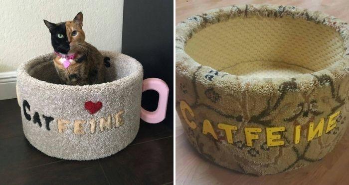catfeine coffee mug cat bed