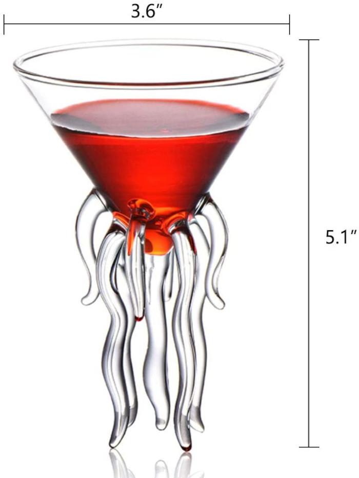cerahome jellyfish martini glass measurements