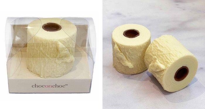 chocolate toilet rolls
