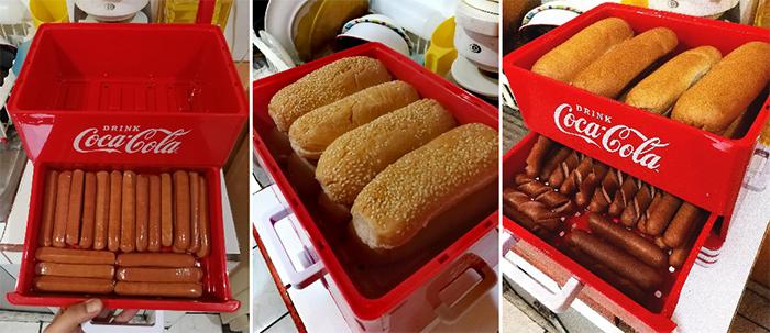 coca-cola hot dog steamer bun warmer