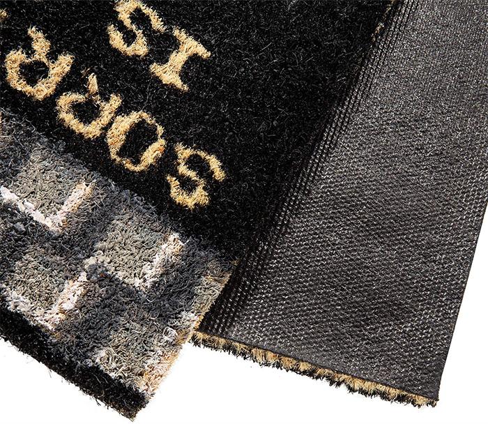 coco coir floor mat pvc rubber underside