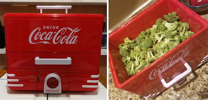 coke-inspired steaming unit
