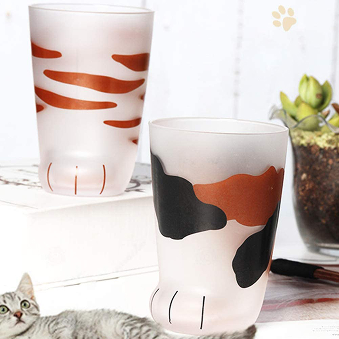 cups inspired by cat paws