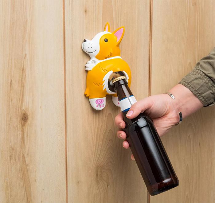 cute corgi butt bottle opener