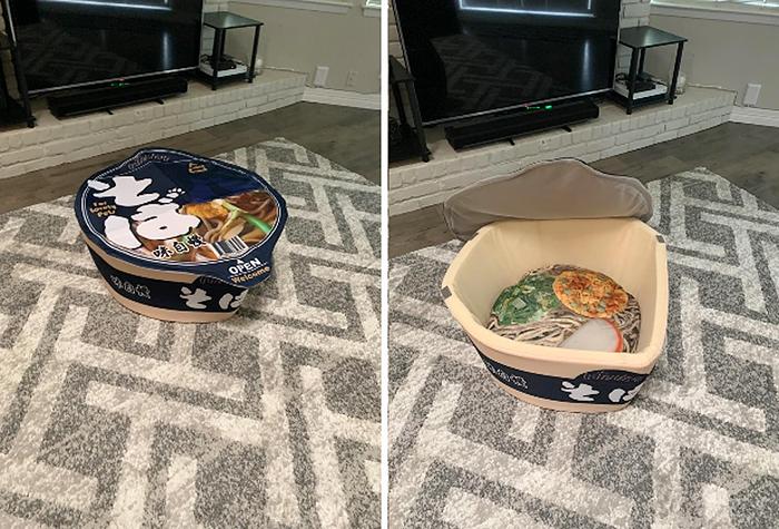 cute cup noodle pet bed